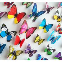 10 Lotes De 12 Mariposas De Diferentes Tamaños 120 Mariposas