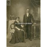Vestido De Novia Negro Casamiento C/ 1910 Foto Carton
