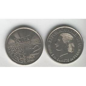 Moneda De Eva Peron, Evita, 2 Pesos Año 2002