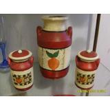 Tarros De Ceramica Pintados A Mano Ideal Especiero