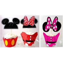 Mickey Y Minnie - Wrappers Y Toppers, Conos, Bolsitas Y Mas