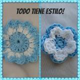 Escarapela Tejida Al Crochet.