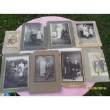Lote 8 Antiguas Fotos Familias Matrimonios Niños Novios