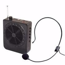 Kit Professor Megafone Amplificador Voz Microfone Aula E72
