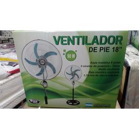 Ventilador De Pie Y Pared P18 ¨ 5 Aspas Metalicas 90 Wts