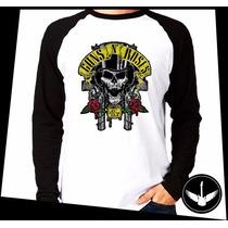 Manga Longa Guns N Roses Armas Banda Rock Blusa Camisa