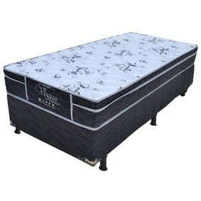 Cama Box Solt. Probel + Colchão Vegas Floral Black Poliéster