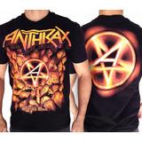 Camiseta Anthrax E833 Consulado Do Rock Camisa Banda