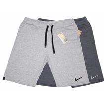 Kit 2 Shorts Moleton Nike Masculina Bermuda Academia Esporte