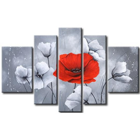 Cuadros Florales Modernos, Dipticos, Tripticos,texturados