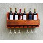 Adega De Vinhos De Madeira Barzinho Com Porta Taças