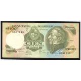 Uruguay Billete De 100 Nuevos Pesos1980 Pick # 62b Xf +++