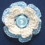 Escarapela Argentina Artesanal Al Crochet Con Prendedor
