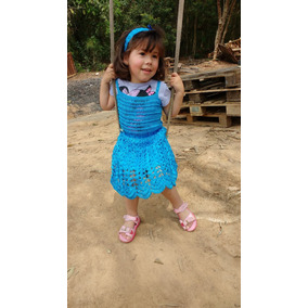 Vestido Crochê Infantil Envio Grátis