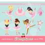 Kit Imprimible Bailarinas Imagenes Clipart Cod 17