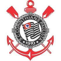 Adesivo Sport Club Corinthians Escudo 10cm - Frete Grátis