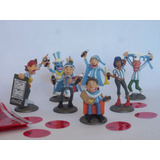 Coleccion Completa De 7 Muñecos Minihinchas De Coca Cola