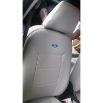 Jogo Capa De Banco De Couro Sintetico Bege Ford New Fiesta