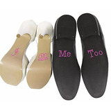 Stickers Zapatos Boda Set I Do + Me Too (varios Colores)