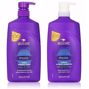 Kit Shampoo E Condicionador Aussie Moist 865ml 100 Lavagens