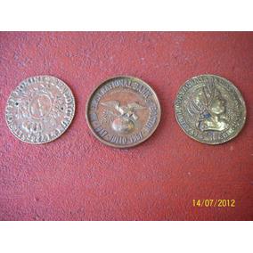 Antiguos Medallones De Bronce