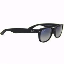 Óculos De Sol Ray Ban 2132 601s78 55 3p New Wayfarer Preto F