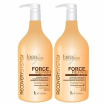 Kit Foreverliss Shampoo E Condicionador Force Repair 1 Litro