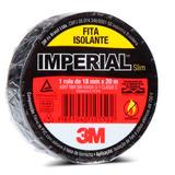 Fita Isolante 3m Imperial 18 X 20 Metros Preta Oferta
