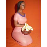 Estatuilla Artesanal Mujer Con Calas -colombia- Cine Teatro