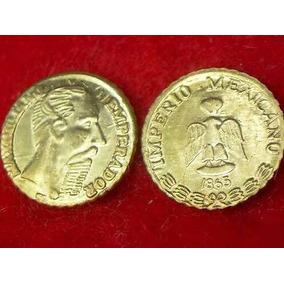Moneda Oro Maximiliano 1865 - Hge