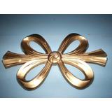Moño Decorativo Navideño Metal Dorado