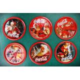 Set 6 Posavasos Coca Cola Chapa Edición Navidad