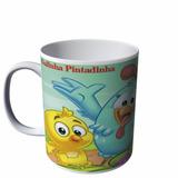 Caneca Galinha Pintadinha Feliz Porcelana N8340