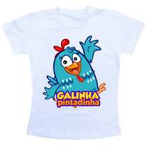 Camiseta Infantil Personalizada - Galinha Pintadinha