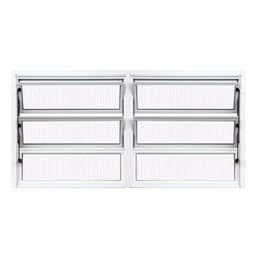 Vitro Basculante 2 Seções De Alumínio Branco 0,60 X 1,20