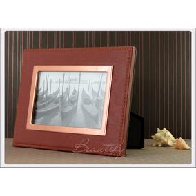 Porta Retrato Cobre 10x15 Em Courino Presente Dia Dos Pais