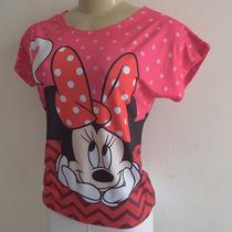 T-shirt Camiseta Blusa Feminina Minnie Loved