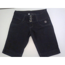 Bermuda Jeans Feminina Preta Linda Z Barata