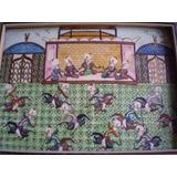 Excepcional Cuadrito Miniatura Islamico Con Marqueterie (j)