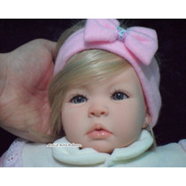 Bebê Reborn Menina Linda Realista Loirinha Olhos Azuis