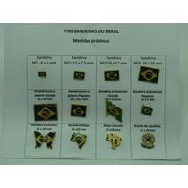 Pins Da Bandeira Do Brasil Modelo A Escolher Kit Com 40pçs