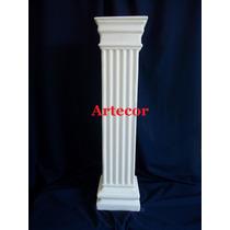 Columna De Yeso Cuadrada De 80 Cm. Blanca