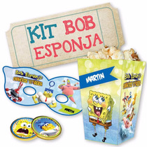 Kit Imprimible Bob Esponja Decoraciones Cajitas Invitaciones
