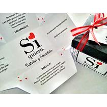 60 Participaciones, Invitaciones Tarjetas Casamiento Cajitas