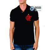 Camiseta Gola Polo Com O Símbolo Do Flamengo
