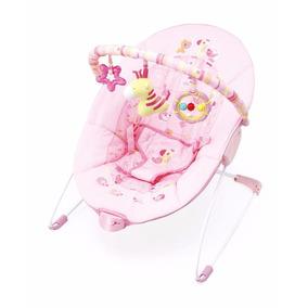 Cadeira Cadeirinha De Descanso Rosa Girafa Vibra 0-11 Kg