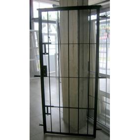 Puerta reja hierro aberturas puertas exteriores hierro for Puertas metalicas para patio