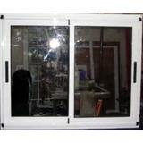 Ventana Modena Aluminio Color Blanco 1.50x1.10 Con Vidrio