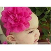 Diadema Para Bebe Princesa Niña Recién Nacido Flor