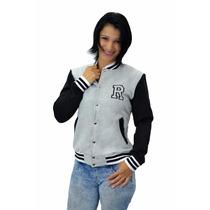 Jaqueta Moletom Feminina Baseball College